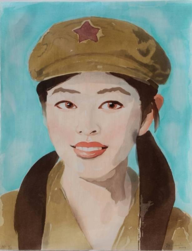 祁志龙50x60cm水彩版画2009年