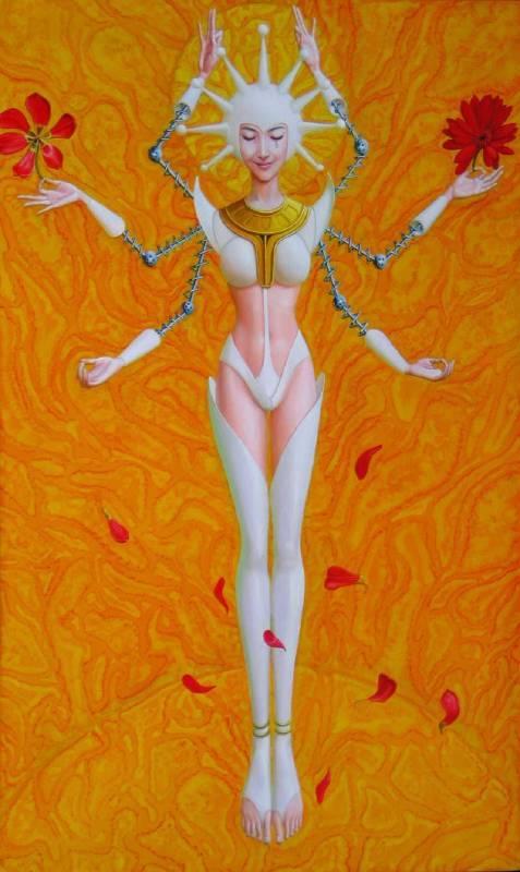 刘治  心月狐150×90布面油画2010