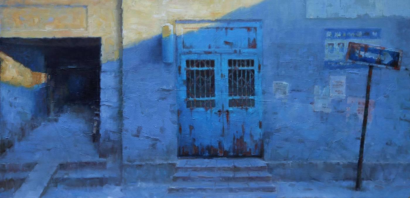 刘春润 梦之蓝60x120cm2015年布面油画