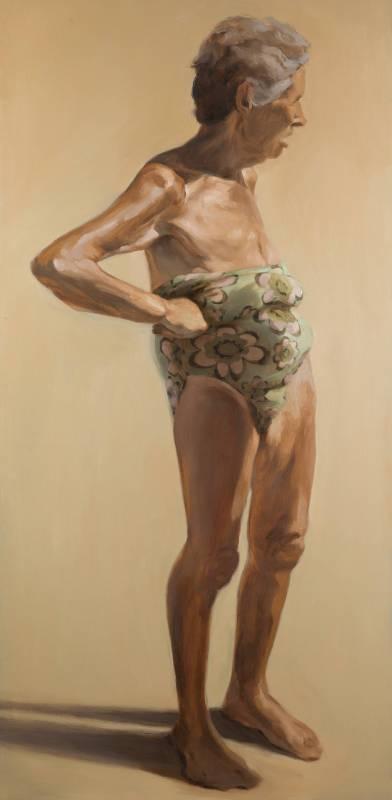 Blanca Amoros_August-Dahlia E_Oil on Board_153 x 66 cm_2014