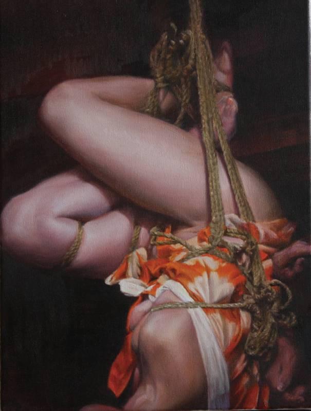 jiyun Cheon_Gefangene (Yuko)_Oil on Canvas_40 x 30 cm_2014