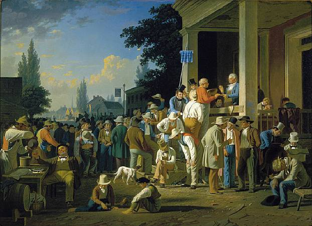 George Caleb Bingham,《The County Election》,1852。圖/取自維基百科。