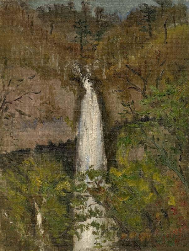 陳澄波,《華嚴瀑布》,1927。