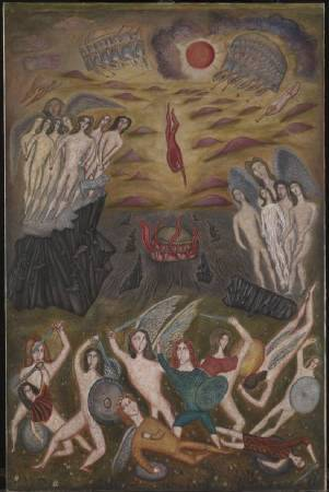 Cecil Collins,《The Fall Of Lucifer》,1933。