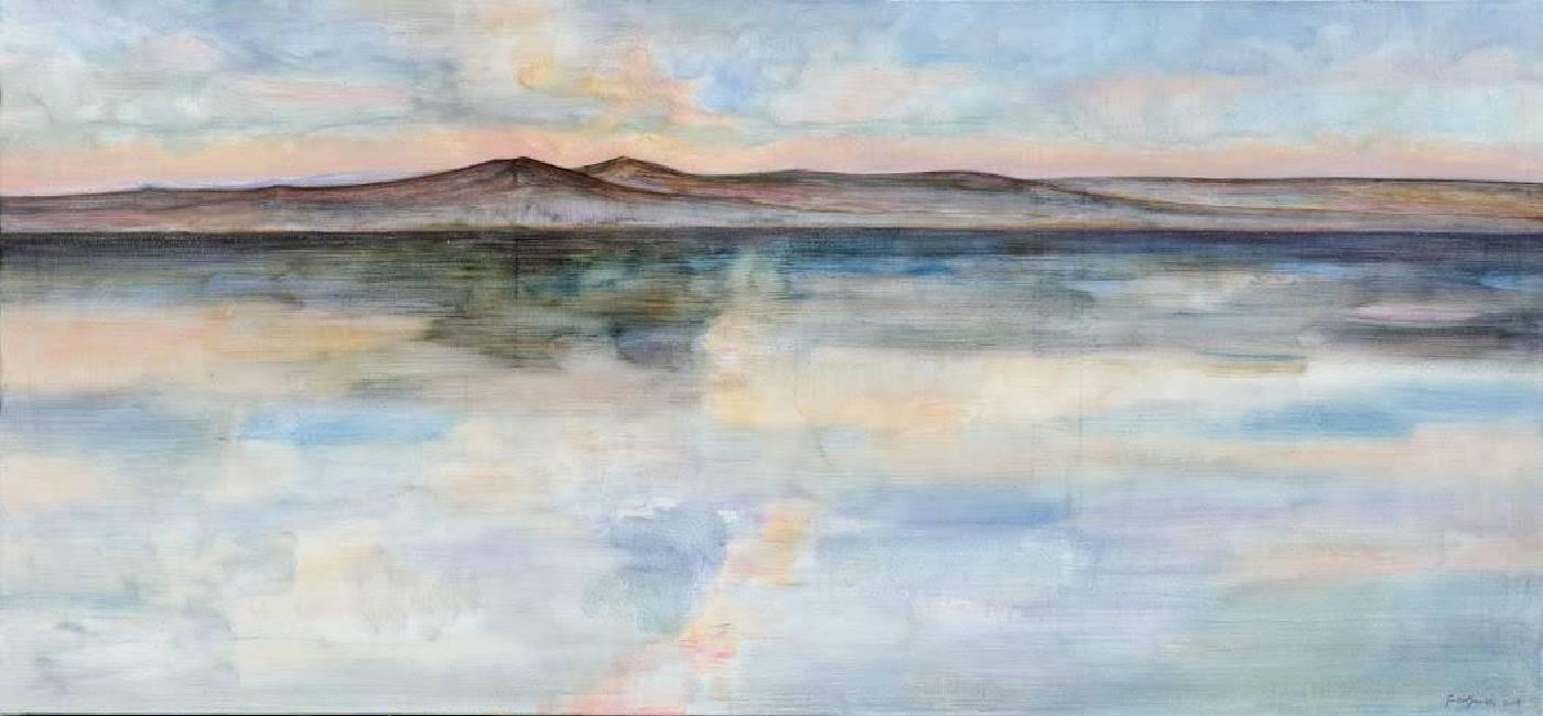 《夕陽下的額爾古納河》