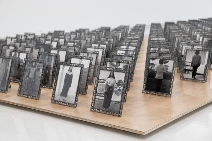 陳順築,《集會‧家庭遊行》。圖/台北市立美術館提供。