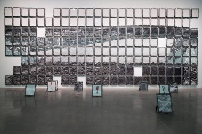 陳順築,《風中的記憶:田地》。圖/台北市立美術館提供。
