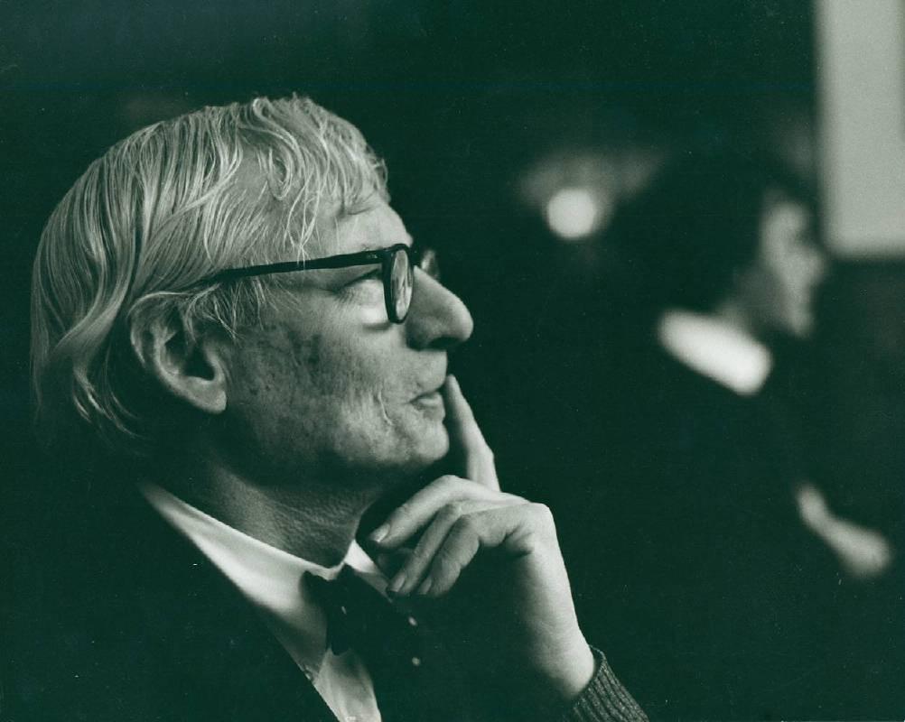 路易.康, 約1972  © 羅伯勞特曼攝影收藏, 國立建築博物館
