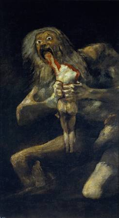 Francisco Goya,《Saturn Devouring His Son》,1819-182。圖/取自wikiart。