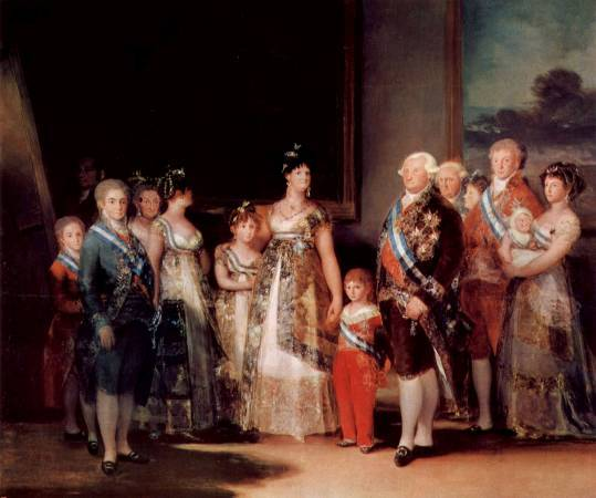 Francisco Goya,《Charles IV of Spain and his family》,1800。圖/取自wikiart。