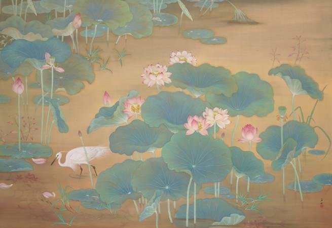 林玉山,《蓮池》,圖/取自Wikipedia。