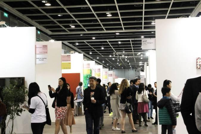 香港巴塞爾藝術展區。圖/非池中藝術網攝。