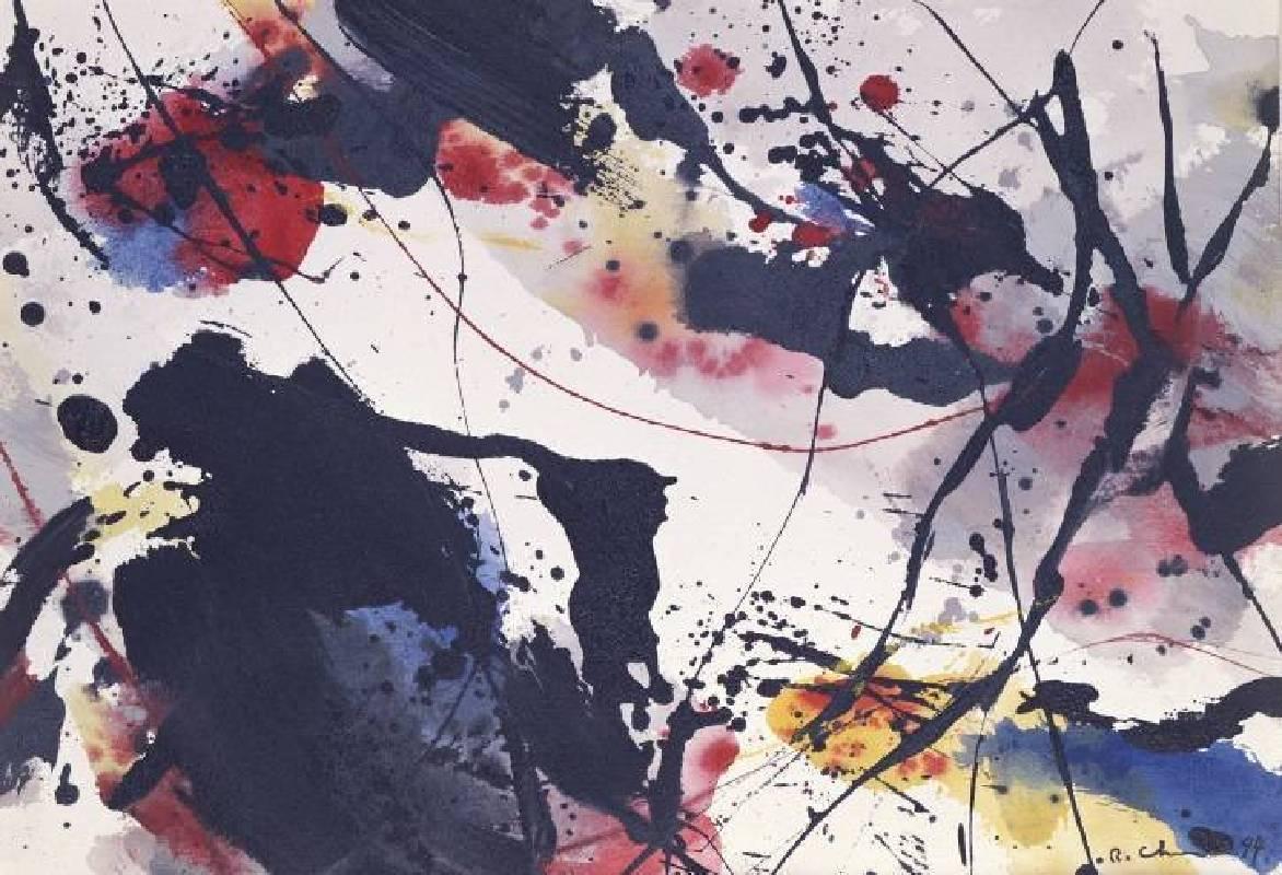 《朦朧的河》,1994,絲網版畫,35x51cm