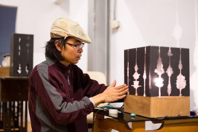 曾偉豪,《聲影-光語》。圖/寶藏巖國際藝術村提供。