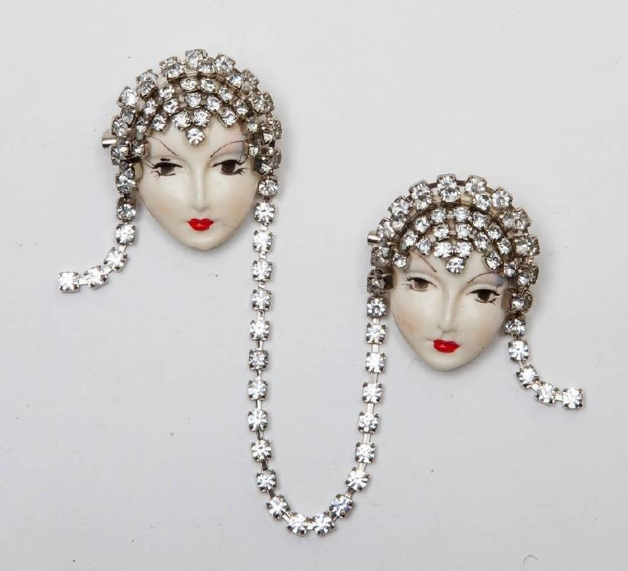 雙臉別針,1980's,何思芃收藏