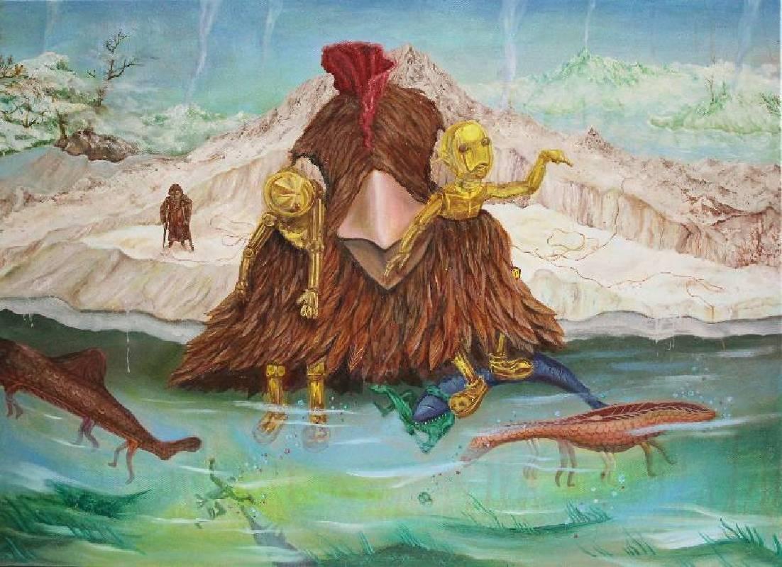 靠近天堂的那塊無害淨土  Strangerland 油彩畫布  70x56.5cm  2013