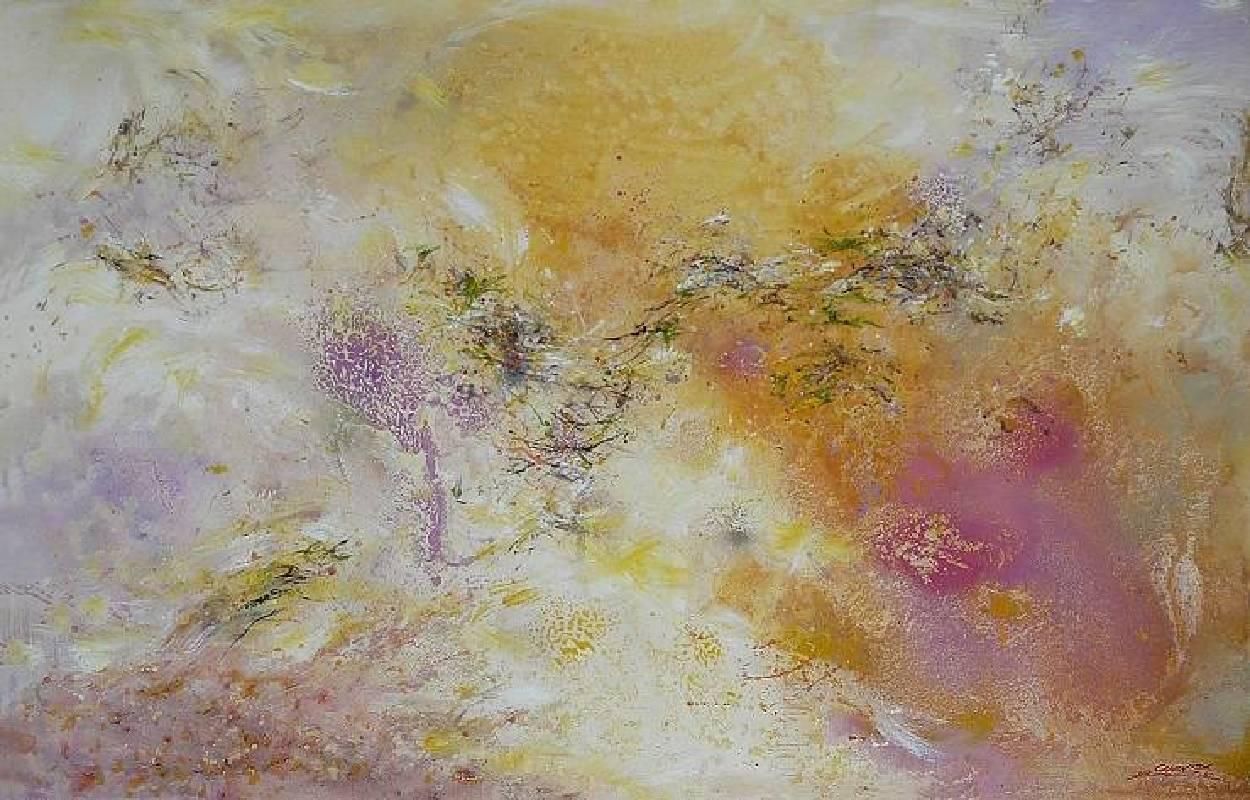陳原成,探原系列「秋韻詩篇」,72.5cm x 116.5cm,壓克力、油彩、畫布 50M,2012