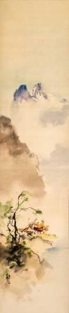 石川欽一郎,《山峽秋氣》。