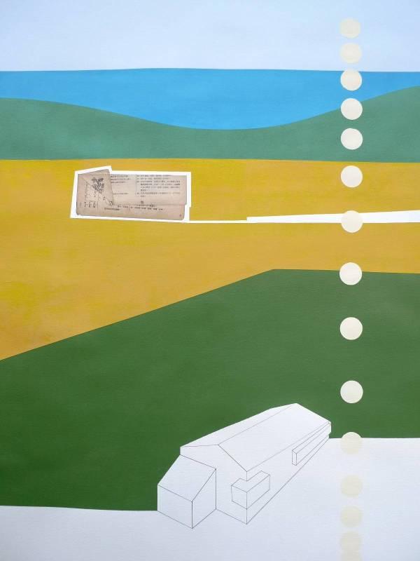 新店溪 Xindian River 79 x 109 cm 紙上壓克力 Acrylic on paper 2013