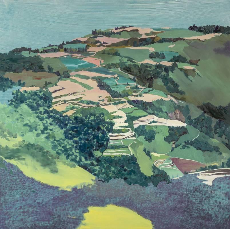 郭志宏《某山》。120x120cm,油彩 畫布,2014