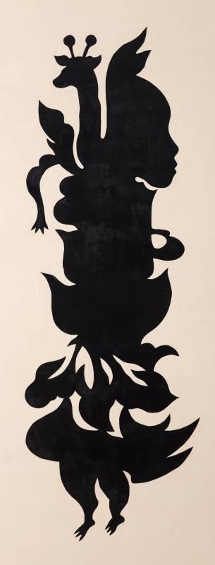 吳耿禎,《黑剪紙No.2─畫布系列》,2015。
