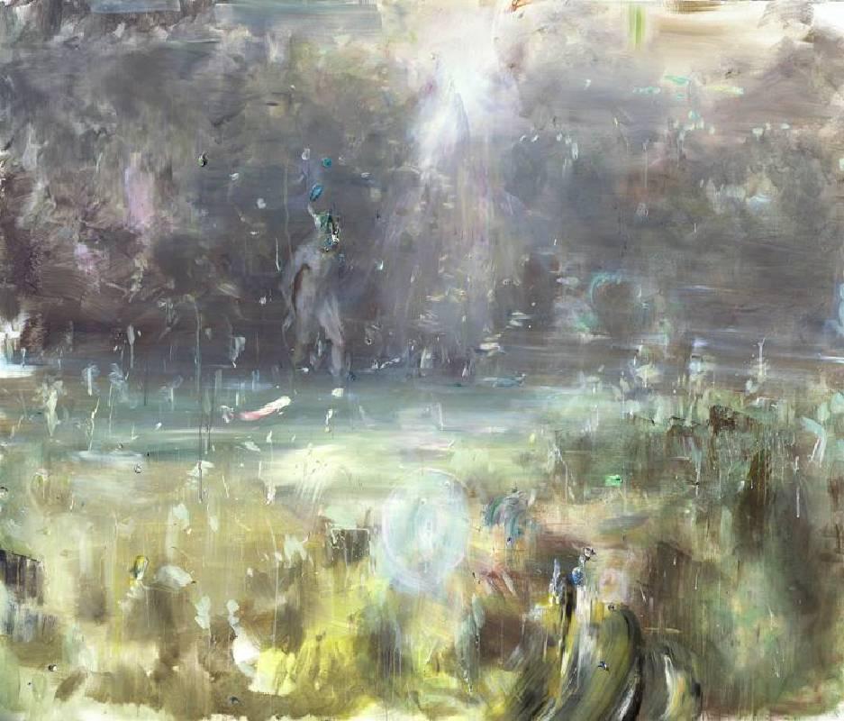 韋嘉,《雲裡的光》,190x220cm,2014,丙烯畫布