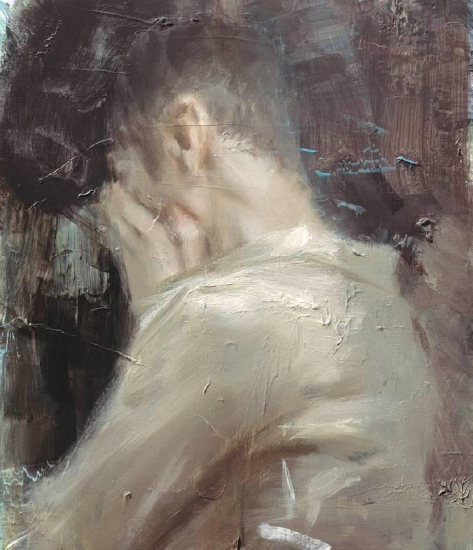 韋嘉,《威力》,70×60cm,2014,丙烯畫布