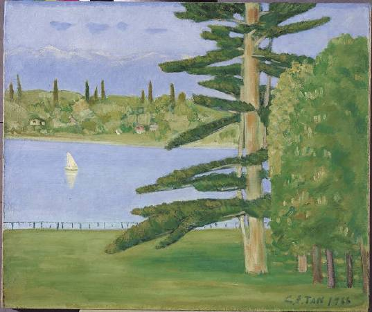 陳清汾,《瑞士萊夢湖》,1966。