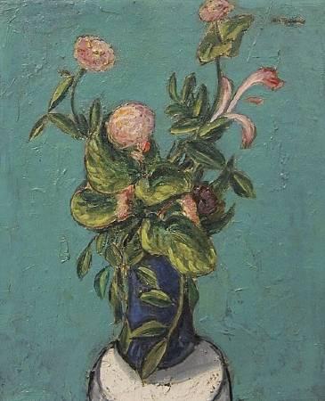 Alfred Maurer,Vase of Flowers,1915-1920