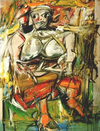 Willem de Kooning,《Woman I》,1952。圖/取自Wikiart。