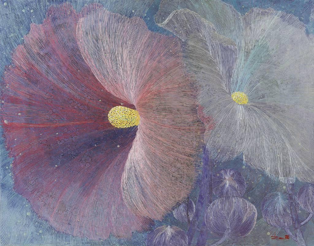 陳舜芝  在銀色月光下 2012  油畫  116.5x91cm