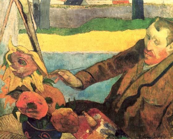 高更《畫向日葵的畫家》。