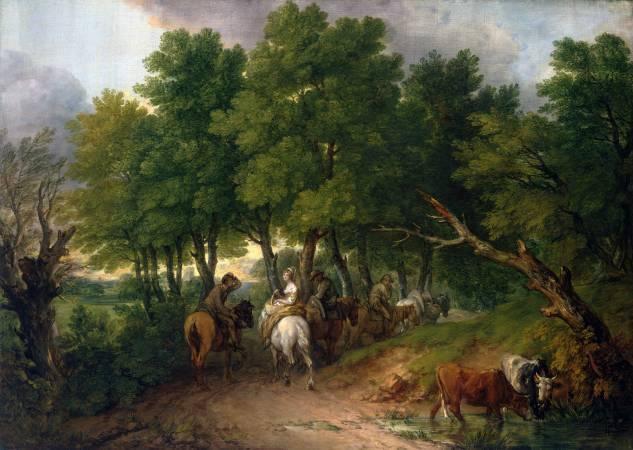 Thomas Gainsborough,《Road from Market》,1767-68。圖/取自Wikipedia。