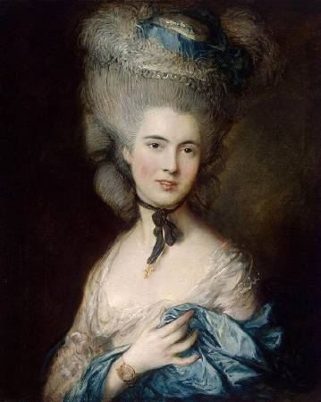 Thomas Gainsborough,《 Portrait of a Lady in Blue》,late 1770s - early 1780s。圖/取自Wikipedia。