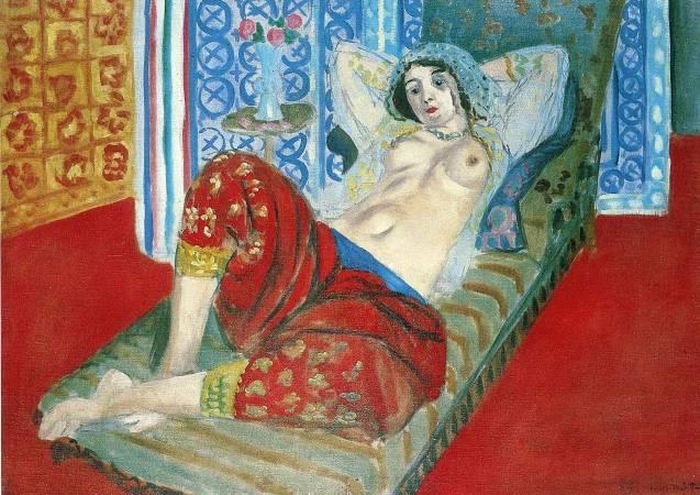 馬諦斯《穿紅褲裙的波斯宮女》。