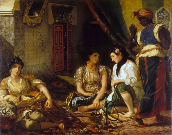 德拉克拉瓦《在住宅中的阿爾及爾女人》。