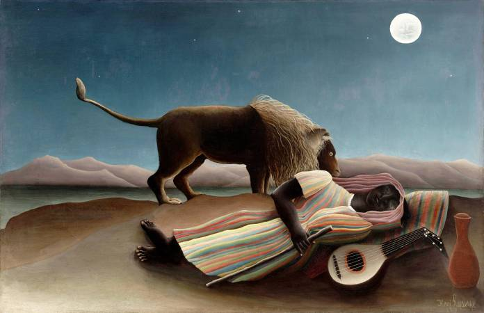 Henri Rousseau,《The Sleeping Gypsy》,1897。圖/取自Wikimedia Commons。