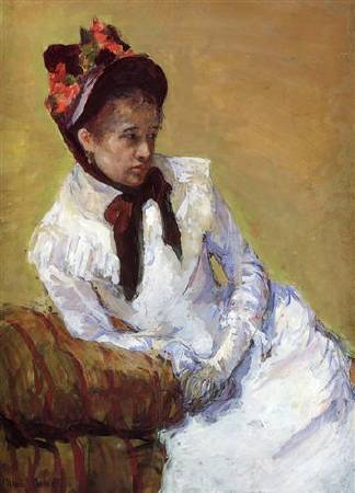 Mary Cassatt,《Portrait of The Artist》,1878。圖/取自Wikiart。