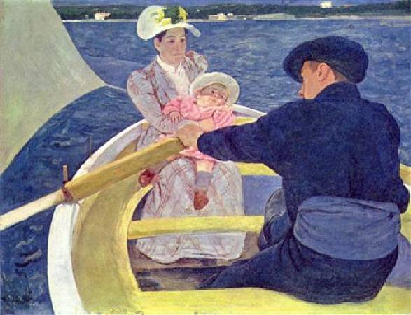 Mary Cassatt,《The Boating Party》,1893-94。圖/取自Wikiart。