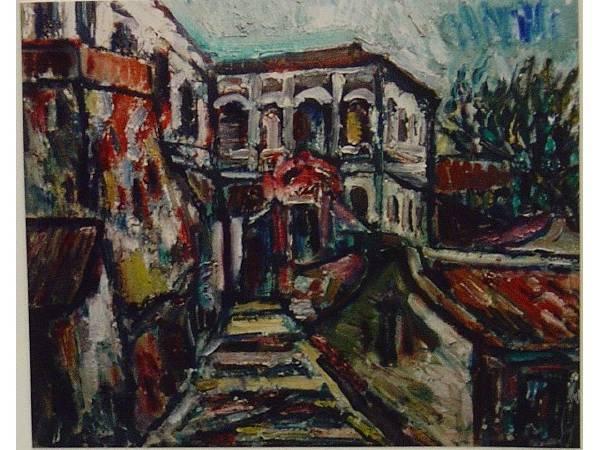 張萬傳,《淡水白樓》,1978。