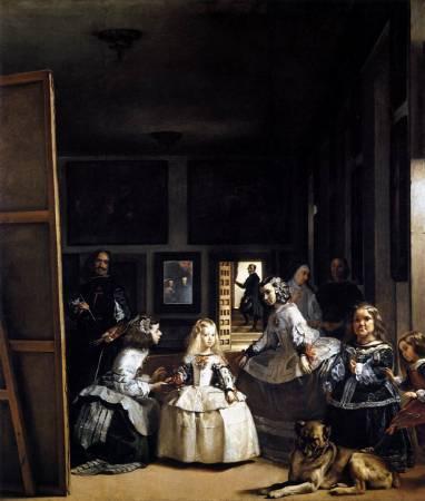 Diego Velázquez,《Las Meninas》,1656-57。圖/取自wikiart