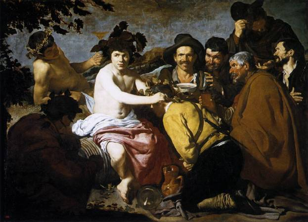 Diego Velázquez,《The Triumph of Bacchus》,1629。圖/取自wikiart