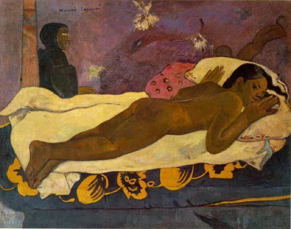 Paul Gauguin,《Spirit of the Dead Watching》,1892。圖/取自wikiart