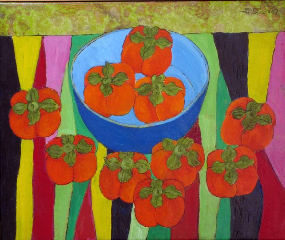 吳昊-柿子-油畫-38x45cm/8F-2007