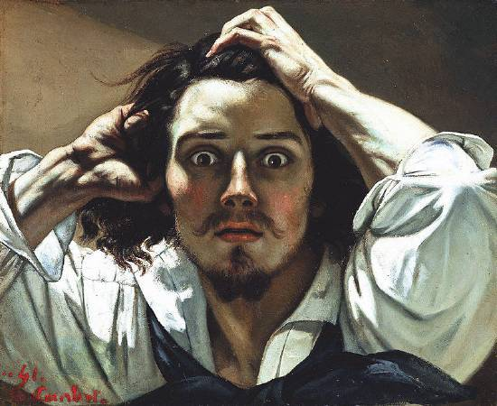 Gustave Courbet,《Self-portrait (The Desperate Man)》,1843-1845。圖/取自wikiart