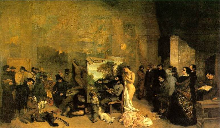 Gustave Courbet,《The Artist' s Studio》,1855。圖/取自wikiart