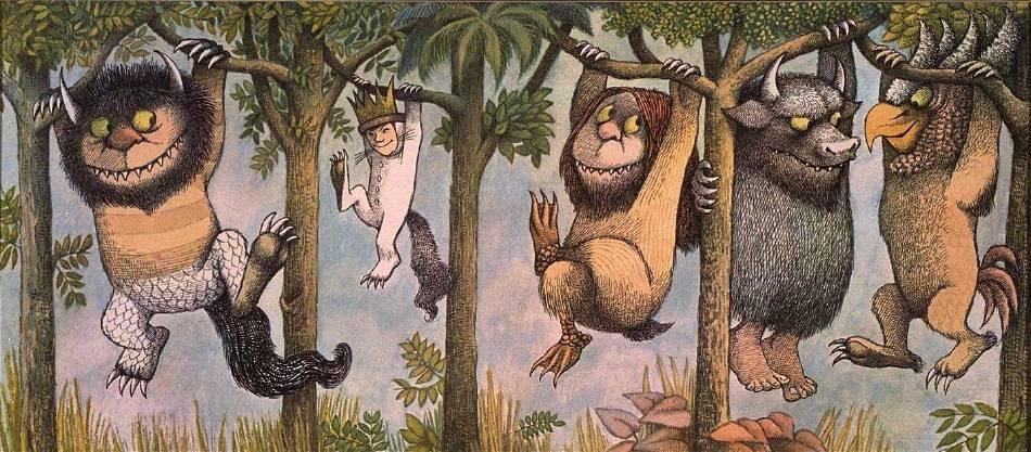 Maurice Sendak,《Where The Wild Things Are》。圖/取自wikiart
