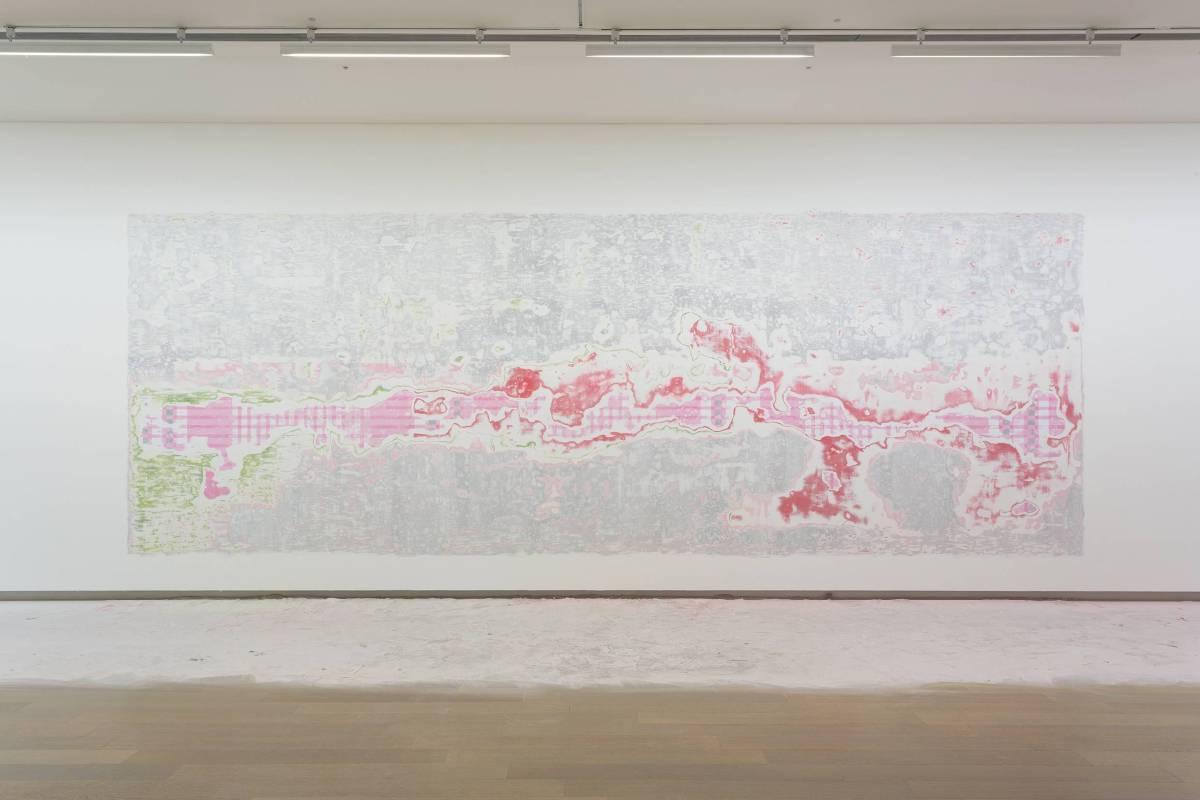賴志盛,《無題之後》,2015,裝置,240 x 680 cm