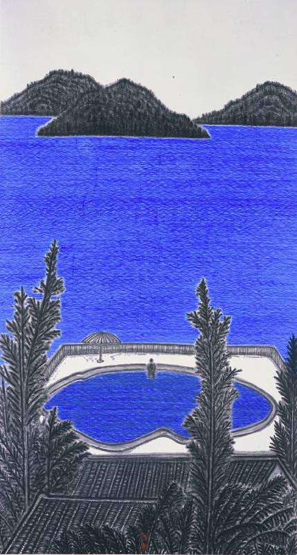 倪再沁《藍藍的海》