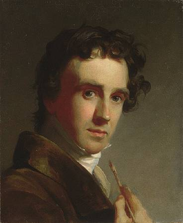 Thomas Sully,《Portrait of the Artist》,1821。圖/取自wikipedia